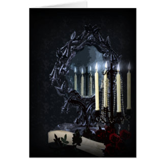 Reflections Gothic Fantasy Wedding Thank You Stationery Note Card