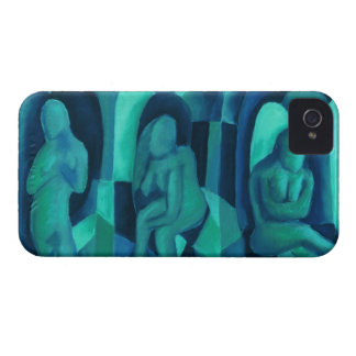 Reflections in Blue I - Abstract Aqua Cyan Angels iPhone 4 Case-Mate Cases
