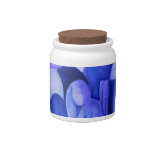 Reflections in Blue II - Abstract Azure Angels Candy Dish