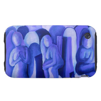 Reflections in Blue II - Abstract Azure Angels Tough iPhone 3 Case