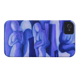 Reflections in Blue II - Abstract Azure Angels Case-Mate iPhone 4 Case