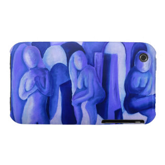 Reflections in Blue II - Abstract Azure Angels iPhone 3 Case-Mate Case