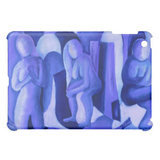 Reflections in Blue II - Abstract Azure Angels iPad Mini Case