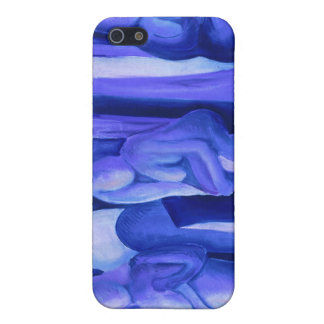 Reflections in Blue II - Abstract Azure Angels iPhone 5 Cases