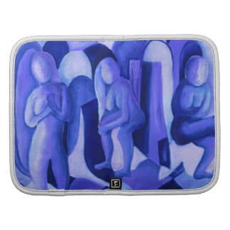 Reflections in Blue II - Abstract Azure Angels Organizer