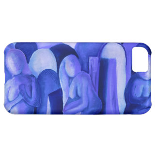 Reflections in Blue II Abstract Azure Cyan Angels iPhone 5C Cases