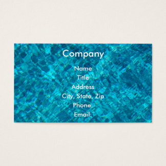 Reflections in Pool Water Business Card