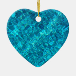 Reflections in Pool Water Ceramic Ornament