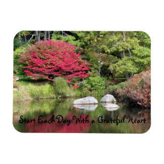 Reflections in the Azalea Garden Quote Magnet