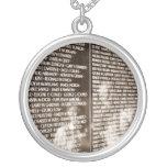 Reflections In The Vietnam Veteran's Memorial Wall Custom Necklace