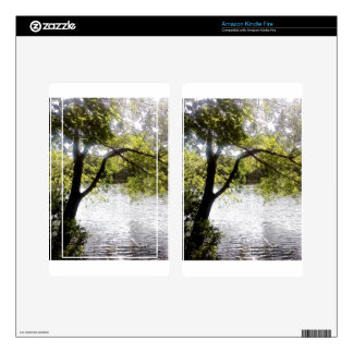 Reflections in the woods kindle fire skin