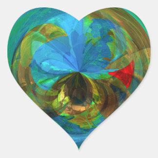 Reflections Inside the Globe Heart Sticker