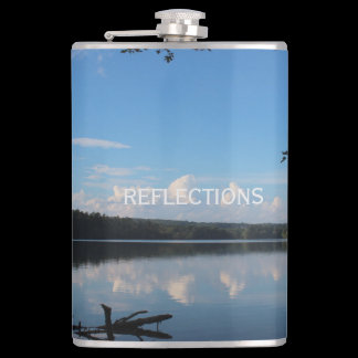 Reflections Loch Raven Reservoir Custom Hip Flask