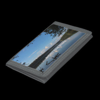 Reflections Loch Raven Reservoir Custom Trifold Wallet