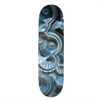 Reflections of A Fractal Fossil Skateboard Deck