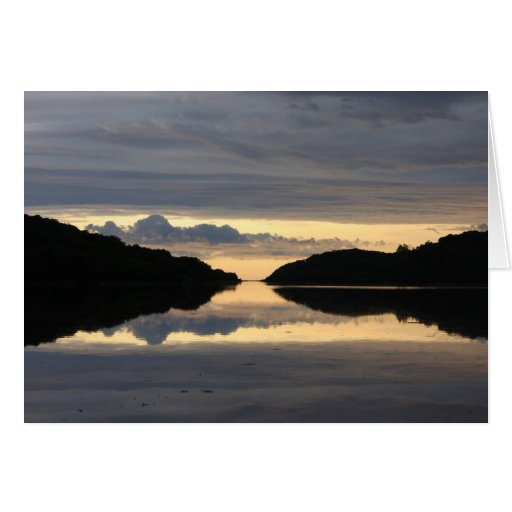 Reflections of a Scottish loch Card
