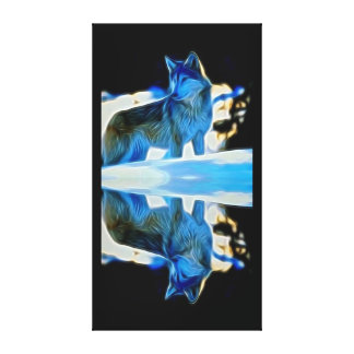 Reflections of a Wolf Gallery Wrap Canvas