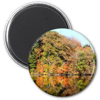 Reflections of Autumn 2 Inch Round Magnet