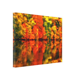 Reflections of autumn gallery wrap canvas