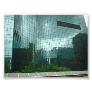 Reflections of Clouds and Buildings in Chicago Photo Print