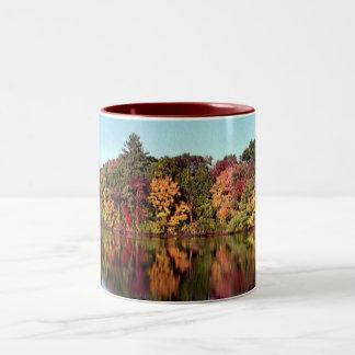 Reflections of Fall Two-Tone Coffee Mug