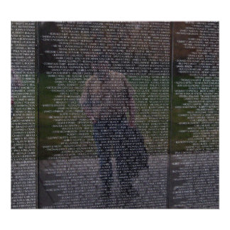 Reflections of Fallen Brothers at the Wall Poster