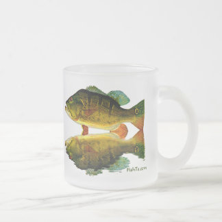 Reflections of fish frosted glass coffee mug