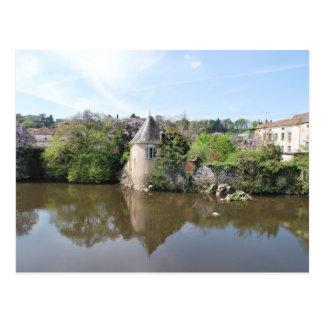 Reflections of France - L'Isle Jourdain Postcard