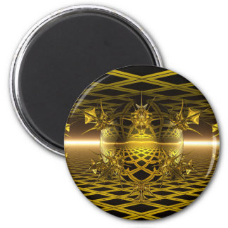 Reflections of Gold 2 Inch Round Magnet
