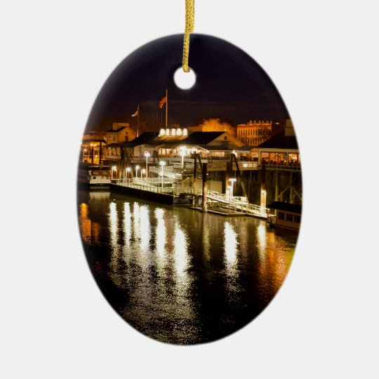 Reflections of good times collection ceramic ornament