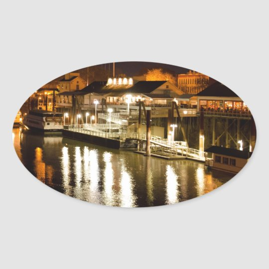 Reflections of good times collection oval sticker
