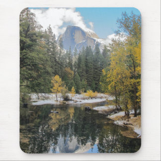 Reflections Of Half Dome Mouse Pad