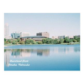 Reflections of  Heartland Park Omaha, Nebraska Postcard
