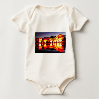 Reflections of Hot Air Balloons Baby Bodysuit