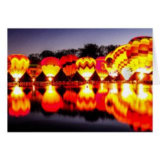Reflections of Hot Air Balloons Card