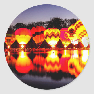 Reflections of Hot Air Balloons Classic Round Sticker