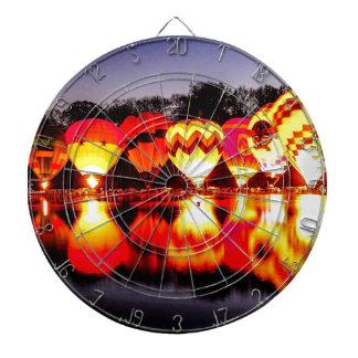 Reflections of Hot Air Balloons Dartboard With Darts