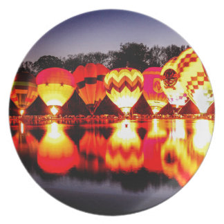 Reflections of Hot Air Balloons Dinner Plate