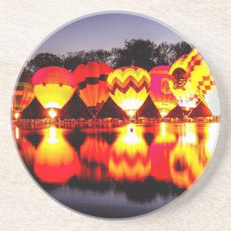 Reflections of Hot Air Balloons Drink Coaster