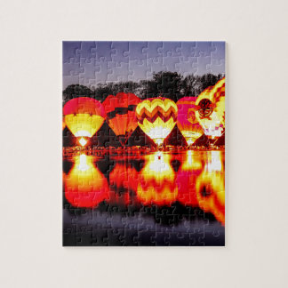 Reflections of Hot Air Balloons Jigsaw Puzzle