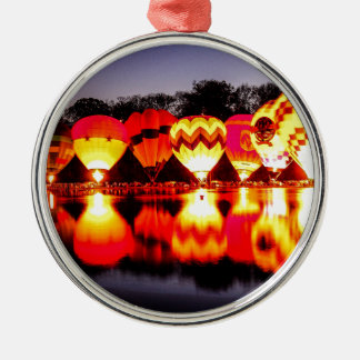 Reflections of Hot Air Balloons Metal Ornament