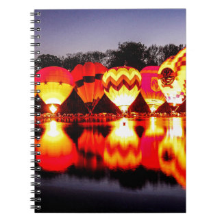 Reflections of Hot Air Balloons Notebook