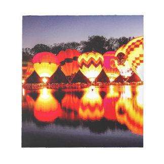 Reflections of Hot Air Balloons Notepad