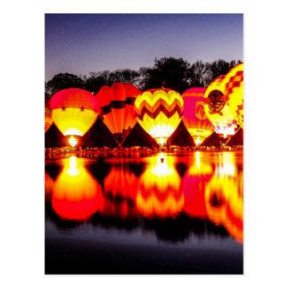 Reflections of Hot Air Balloons Postcard
