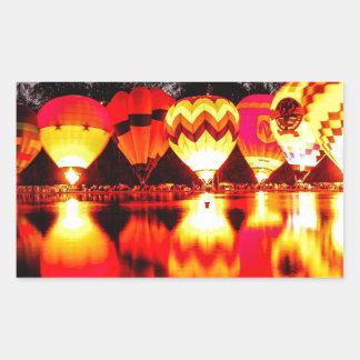 Reflections of Hot Air Balloons Rectangular Sticker