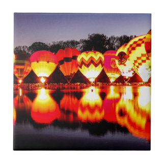 Reflections of Hot Air Balloons Tile