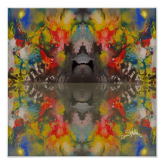 Reflections of Night Colours Poster