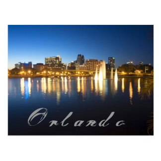 Reflections of Orlando, Florida from Lake Lucerne Postcard