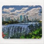 REFLECTIONS OF OZ  Brisbane River Waterfalls Mousemat