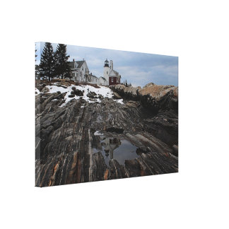 Reflections of Pemaquid Canvas Print
